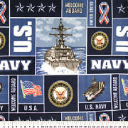 Naval Collage Throw